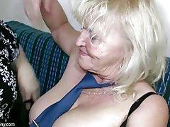 Oldnanny madura con tetas grandes masturbarse con granny chubby
