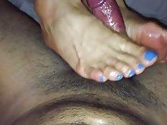 MILF con el pie pto rico