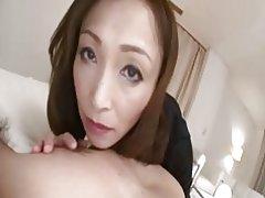Bastante japonesa creampied de coño maduro y s