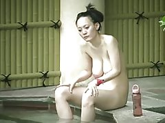 Mamá de Japaness con saggy tetas chochos peludo