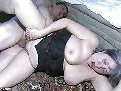 Oldnanny abuela gordita es muy caliente trío gran