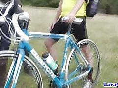 Británica maduran en medias recoge ciclista para follar